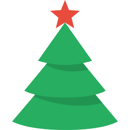 512x512 Christmas Tree Outline On Black Clipart Kid 2