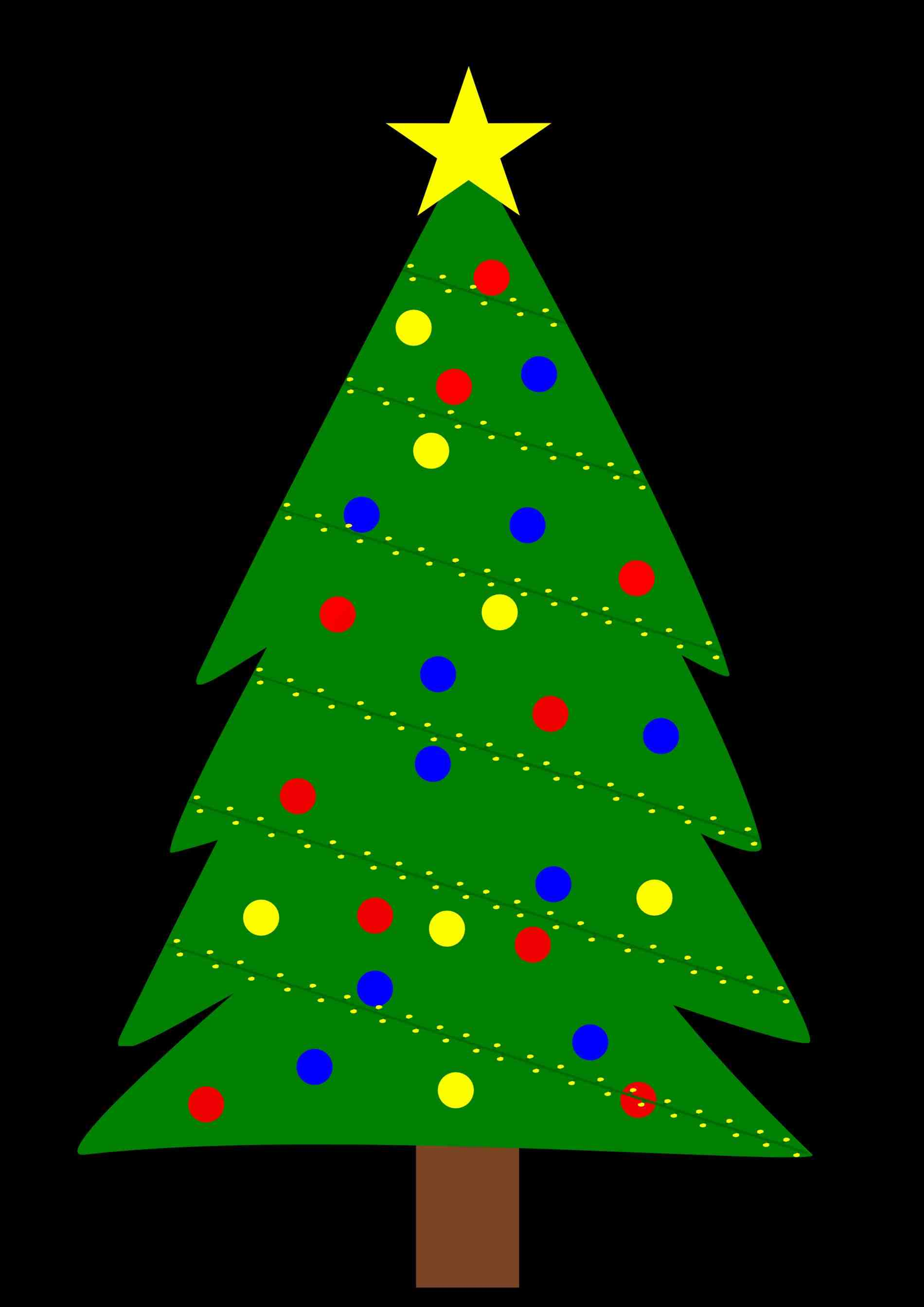 Christmas Tree Outline Clipart | Free download on ClipArtMag