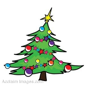 300x300 Clip Art Of A Christmas Tree That Is Leaning To One Side