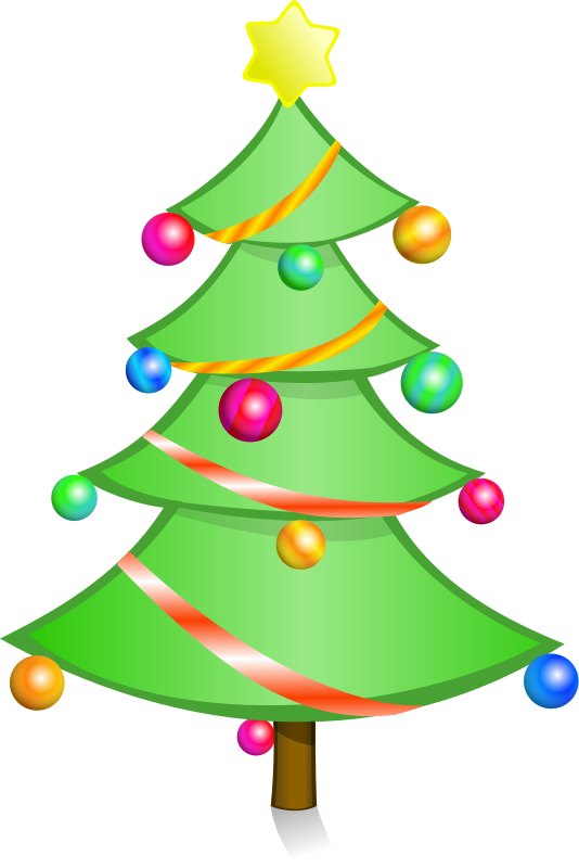 534x800 Clipart Of Christmas Tree