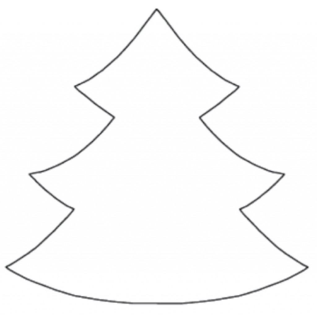 1024x1016 Best Christmas Tree Outline