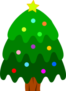 216x299 Christmas Tree With Ornaments And Star Clip Art