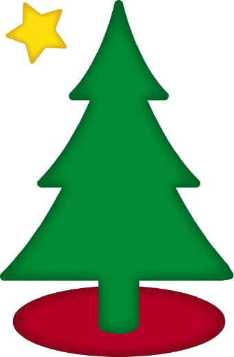 340x518 Christmas Tree With Star Clip Art