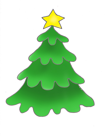 442x573 Image of Christmas Star Clipart