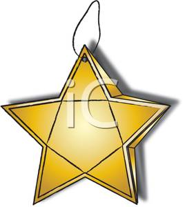 268x300 Art Image A Gold Star Christmas Tree Ornament