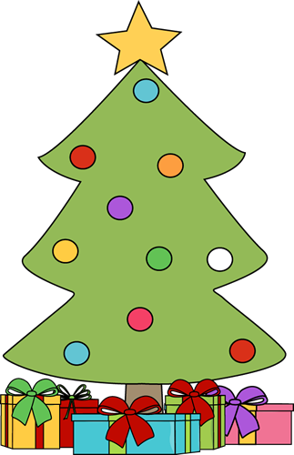 323x500 Christmas Tree With Presents Clipart