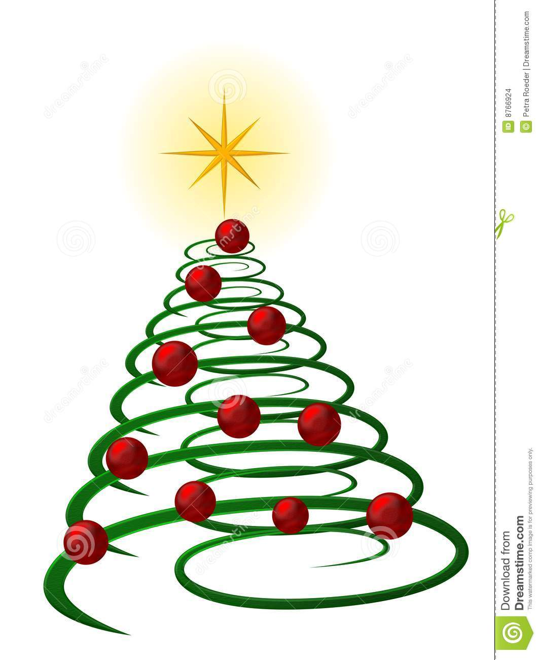 1065x1300 Christmas Tree Clipart Spiral