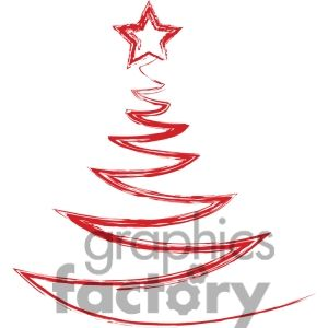 300x300 Christmas Tree Logo Design 383698 Vector Clip Art Image