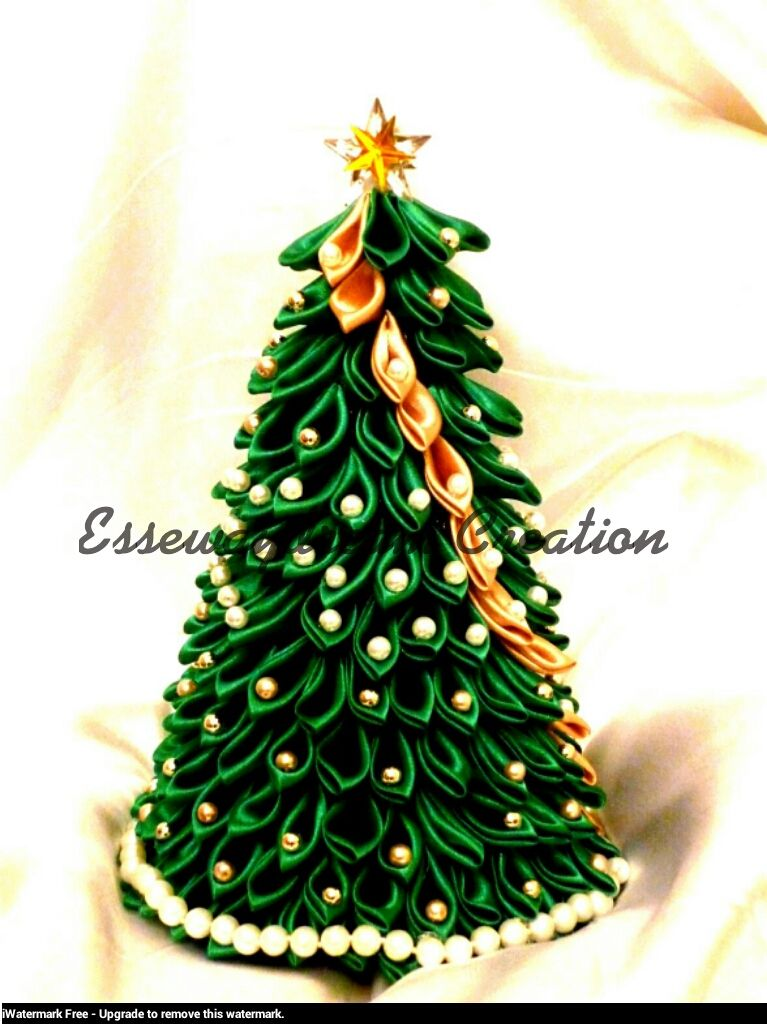 767x1024 Kanzashi Christmas Tree By On @