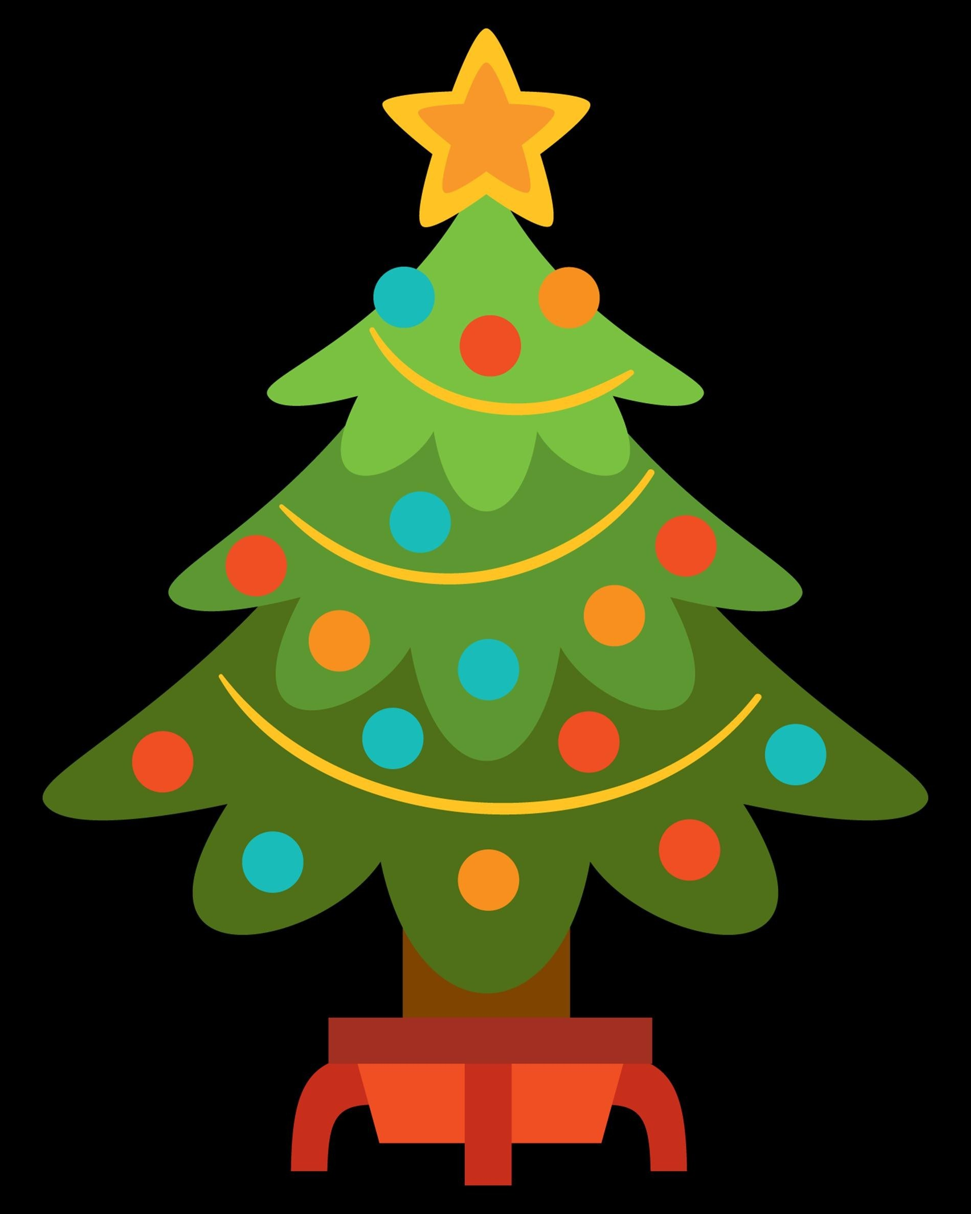 1899x2374 Plain Christmas Tree Cartoon Christmasthing.site