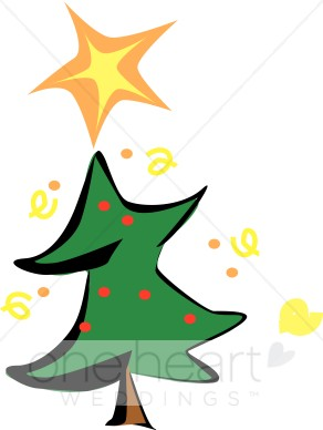 292x388 Cartoon Christmas Tree Clipart Wedding Christmas Tree Image