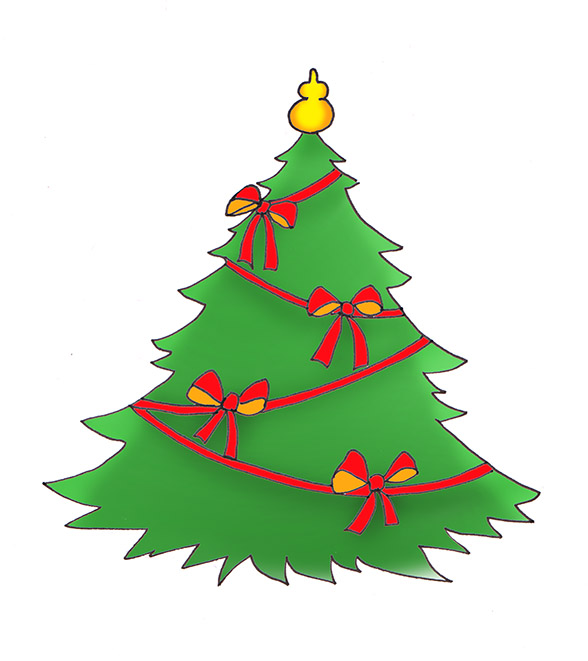 588x661 Christmas Tree Clip Art
