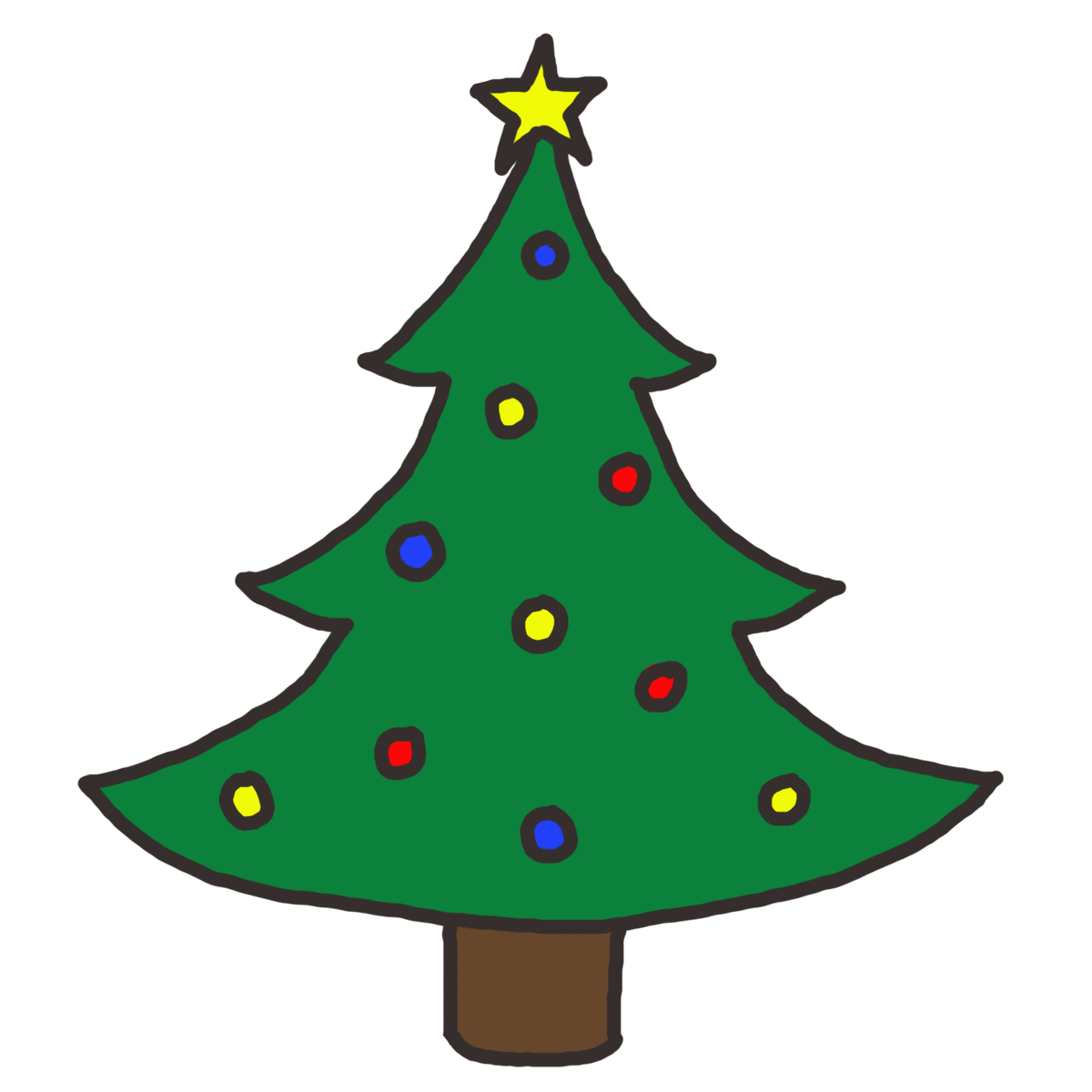 1200x1200 Christmas Tree Free Clipart