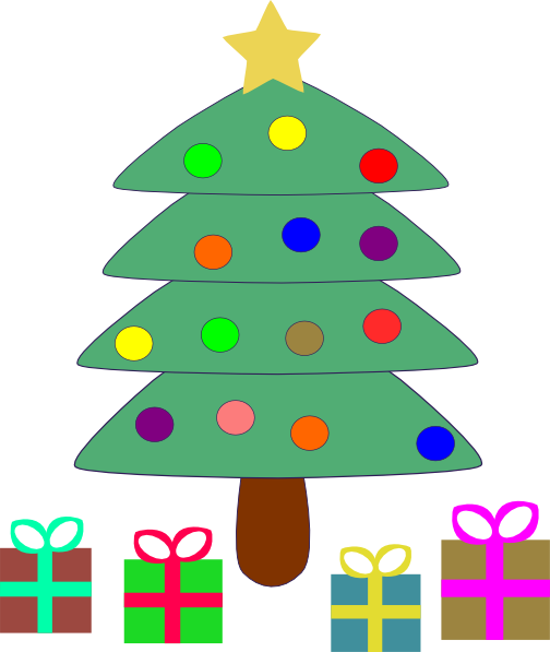 504x597 Christmas Tree Gifts Clip Art