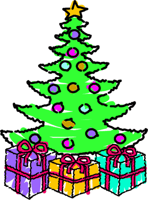 296x400 Christmas Tree With Presents Clip Art – Merry Christmas And Happy