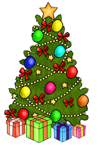 205x300 Christmas Tree With Presents Clipart