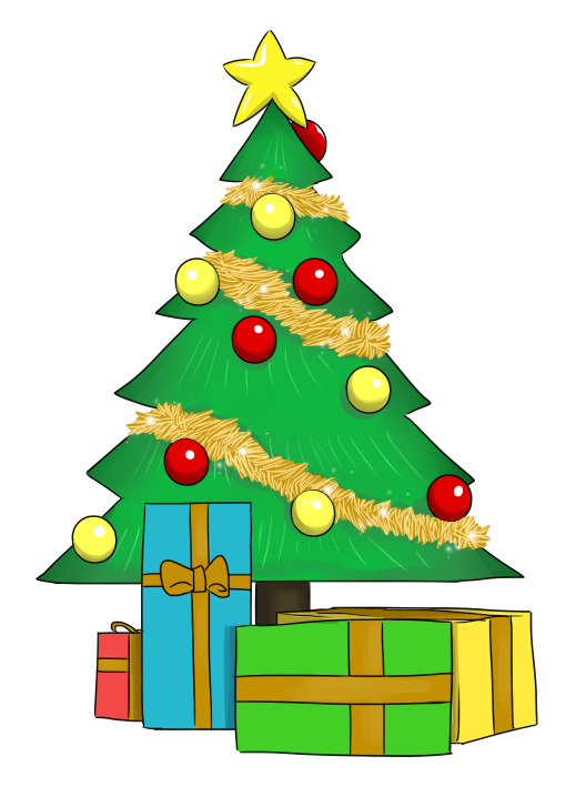 528x718 Christmas Tree With Presents Clipart Clipart Panda