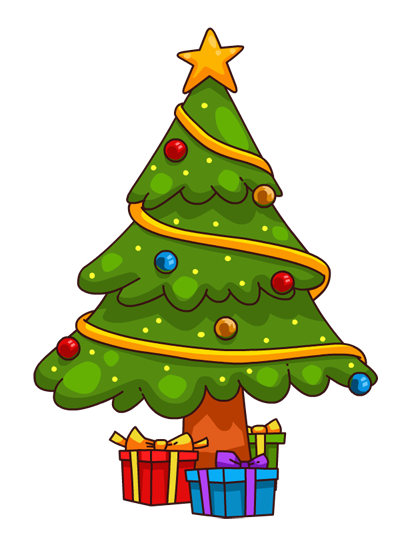 407x551 Christmas Tree With Presents Clipart Many Interesting Cliparts