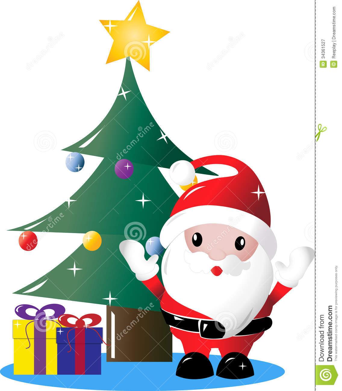 1136x1300 Christmas Tree Clipart Present Santa Clip Art