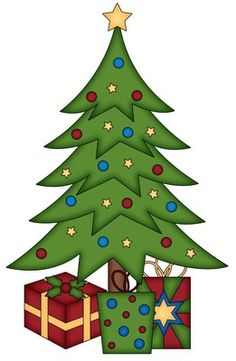 236x361 Christmas tree with presents clipart 6 Nice clip art