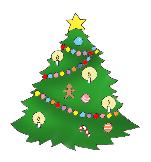 606x650 Clipart Of Christmas Tree