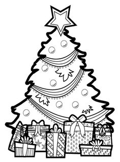 236x317 Present Clip Art Black And White Christmas Tree Coloring – Merry