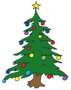 236x299 This nice Christmas tree with presents clip art can be used for