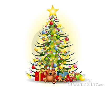 400x333 toys under tree clipart