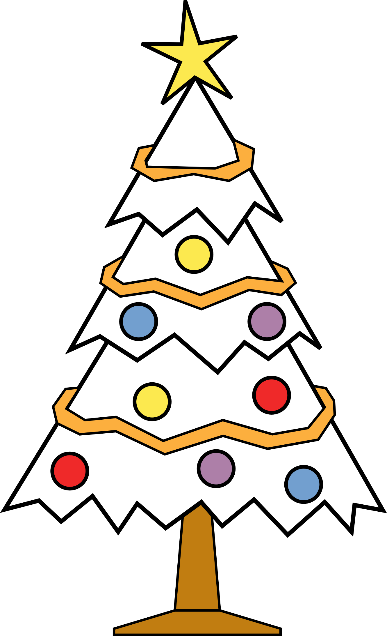 1331x2184 Christmas Tree Clipart Black And White