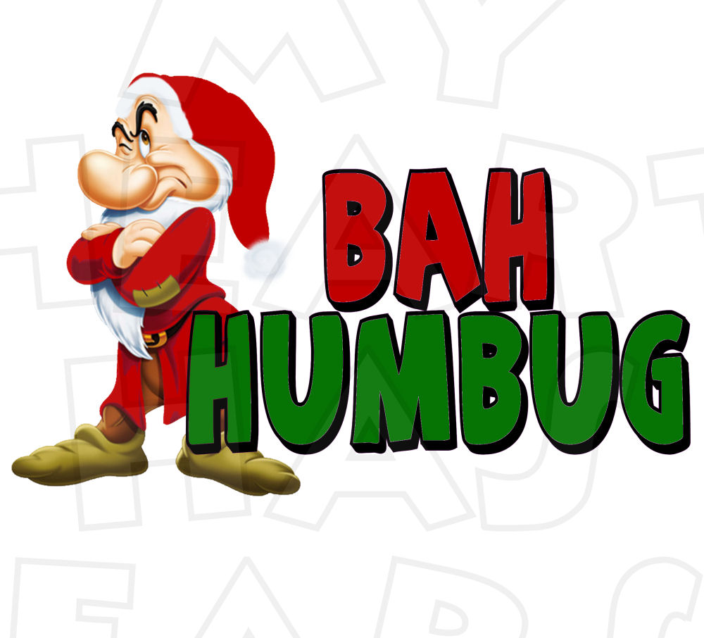 1000x906 Grumpy Dwarf Christmas Bah Humbug Instant Download Digital Clip
