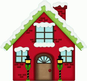 Christmas Village Clipart