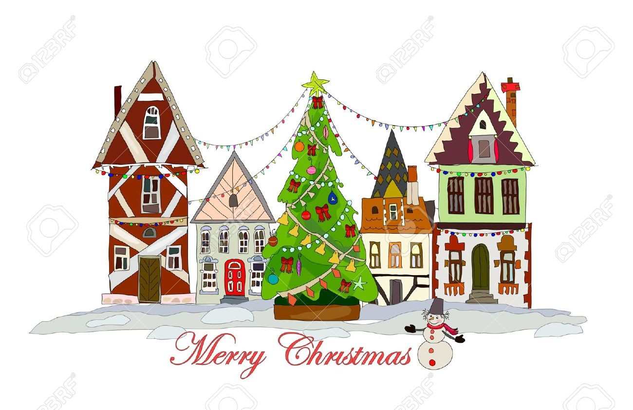 1300x842 Town Clipart Christmas Town