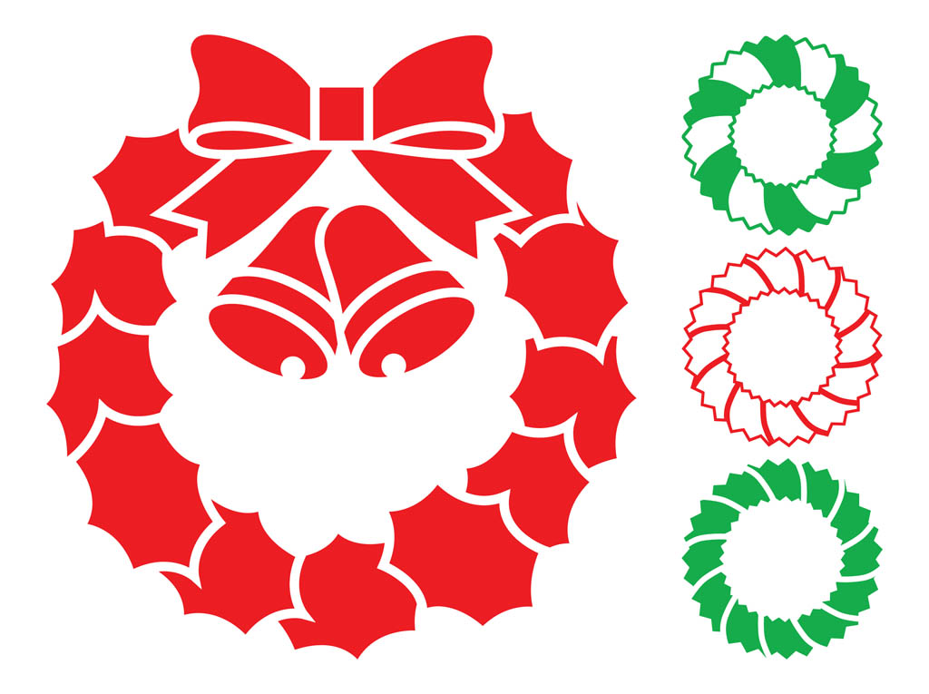 Christmas wreath silhouette. Wreaths clipart free download