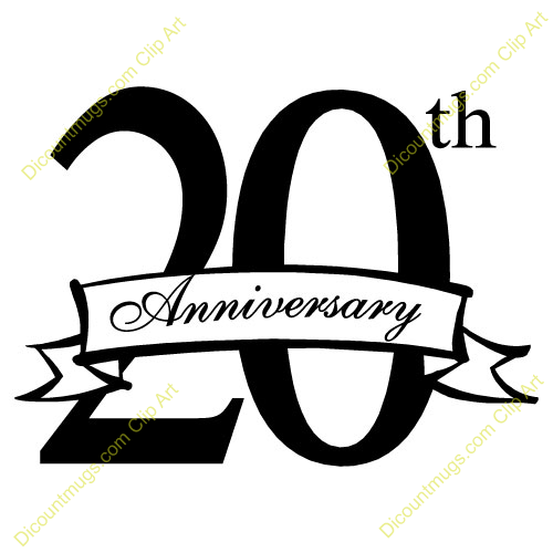 500x500 20th Anniversary Clipart