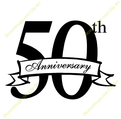 500x493 50th Anniversary Clipart Many Interesting Cliparts