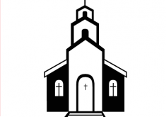 Church Black And White Clipart