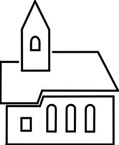 232x283 Church Clipart Black And White