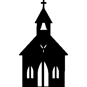 300x300 Little Church Line Art Free Clip Art Image 6 3