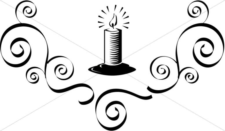 776x452 Candle Black And White Church Candle Clipart Images Sharefaith
