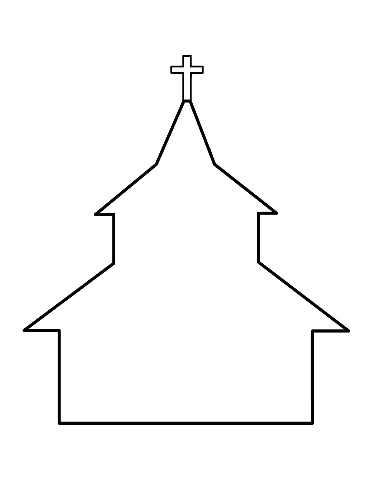 1236x1600 Church Outline Clip Art