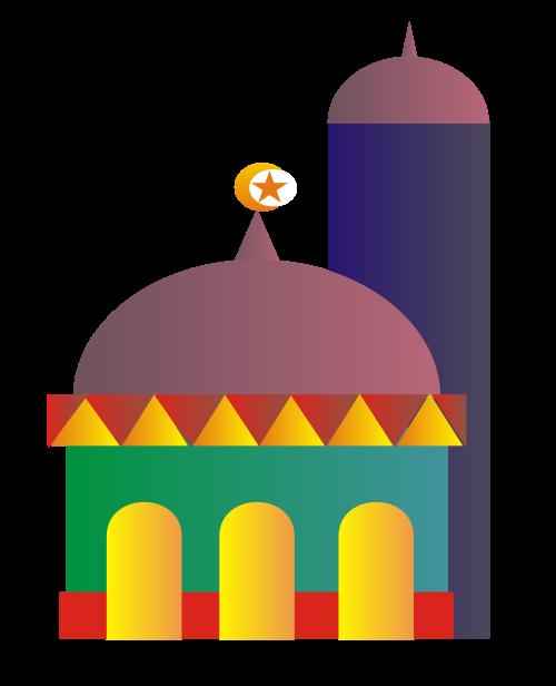 500x616 Church Clipart Islamic