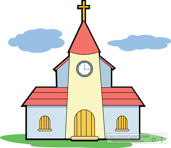 550x477 Religious Clipart Church Building