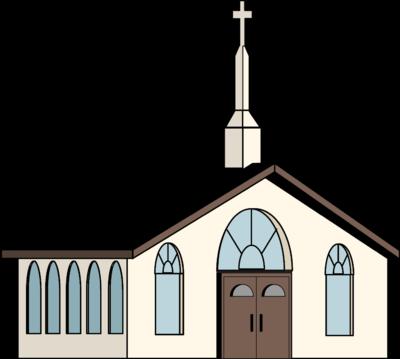 400x359 Church Building Clipart