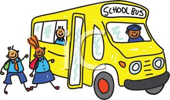 350x207 Clip Art Illustration Of A School Bus