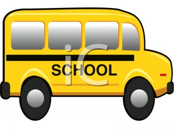 350x262 Picture Of A Short School Bus In A Vector Clip Art Illlustration