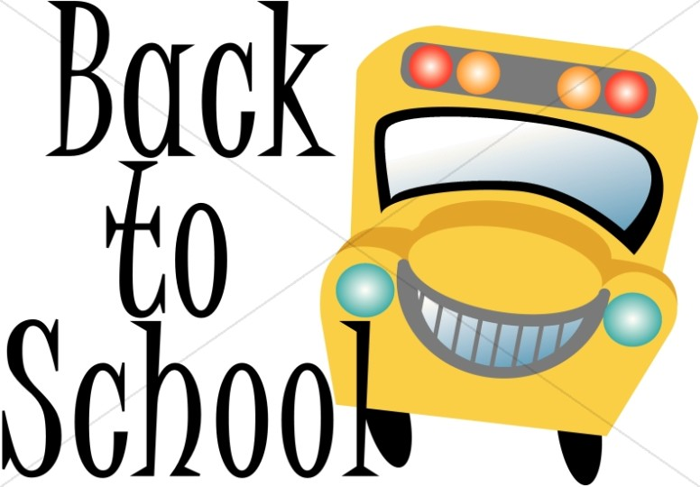 776x540 Back To School Word Art With Bus Childrens Church Clipart