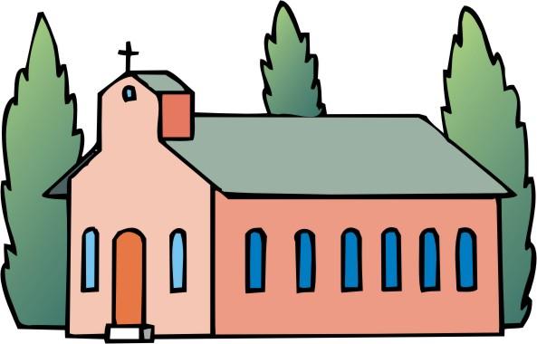 593x380 Free Church Clipart Image