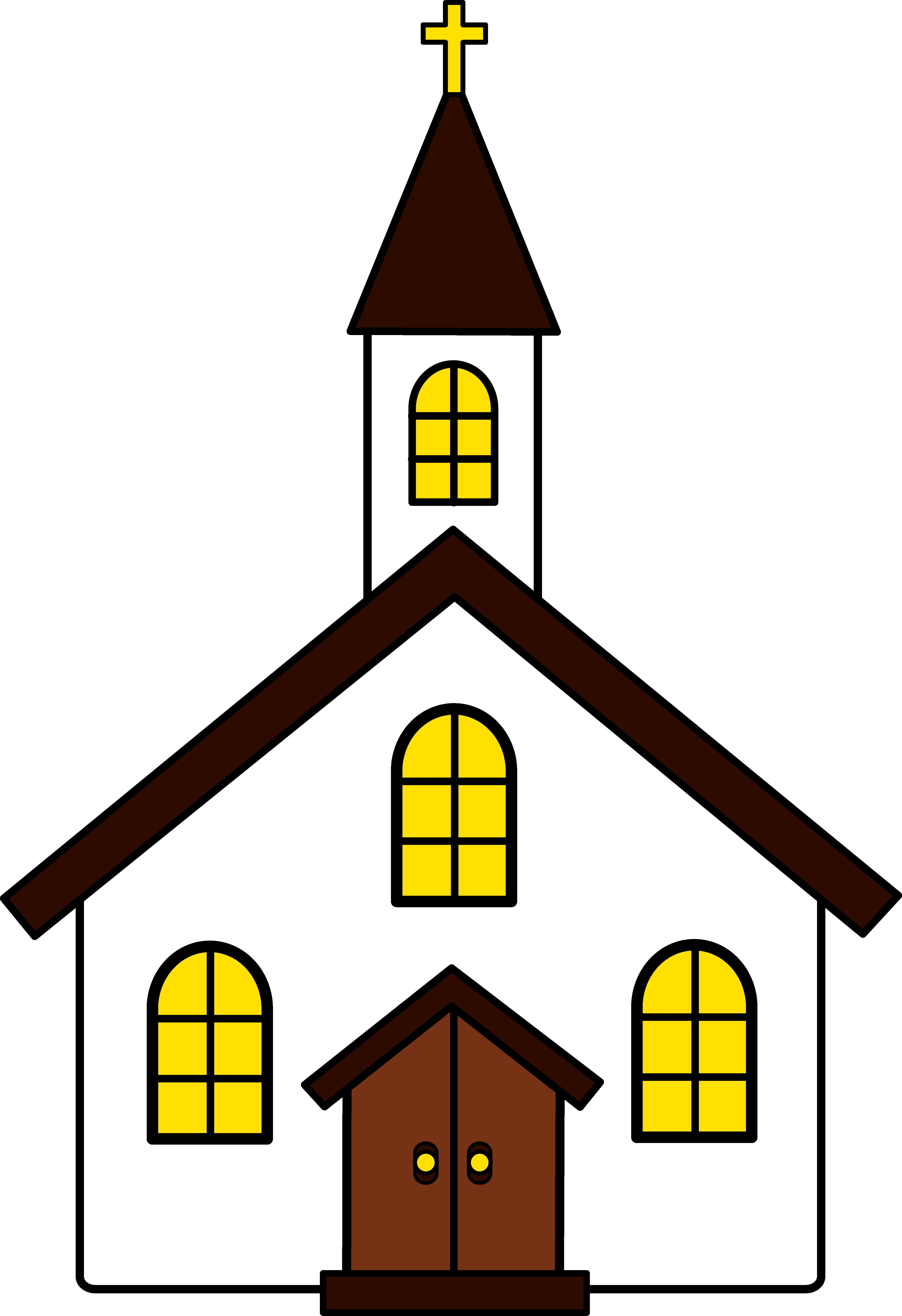 4543x6626 Clip Art Church