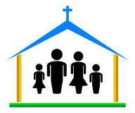 192x160 Church Family Clipart