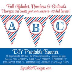 236x236 Pennant Banner, Red Checkered Gingham Plaid